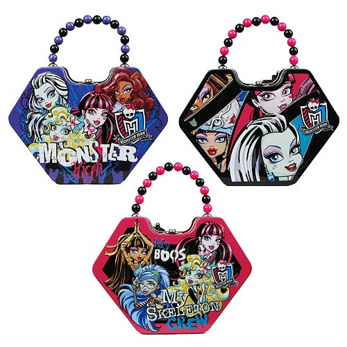 Monster High Diamond Shaped Tin Purse Lunch Set