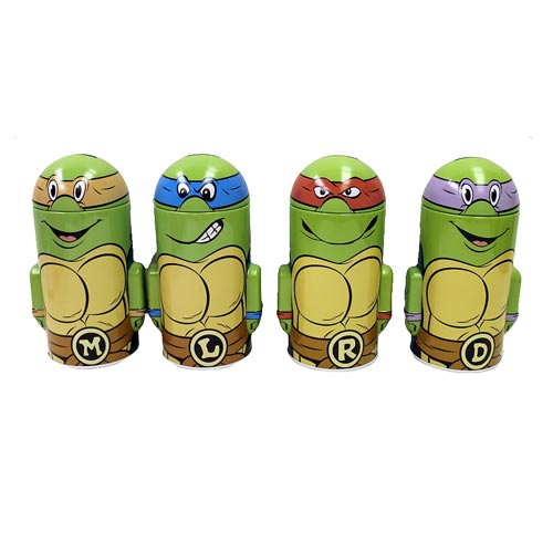 Teenage Mutant Ninja Turtles Domed Tin Bank Set