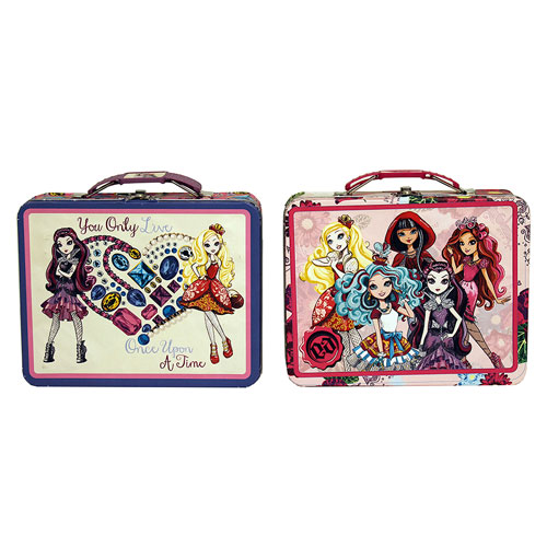 Tin Mailbox: Ever After High Large Embossed Tin Lunch Box Set