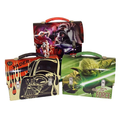 Star Wars Large Workman Carry All Tin Lunch Box Set