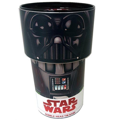 Star Wars Darth Vader Bobble Head Tin Bank