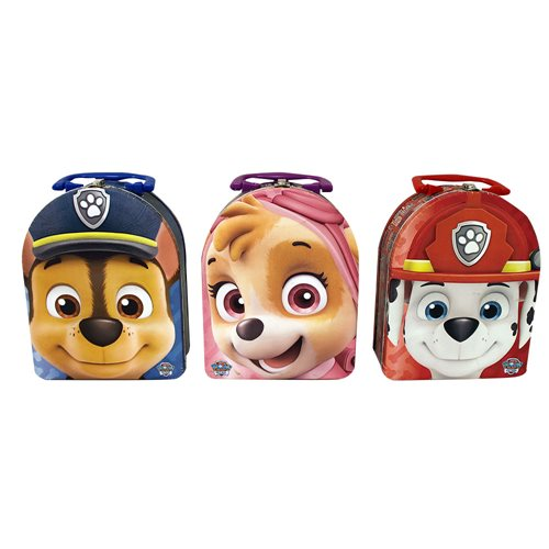 Paw Patrol Arch Carry All Embossed Tin Lunch Box Set