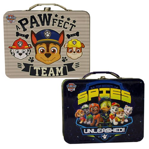 Paw Patrol Large Carry All Embossed Tin Lunch Box Set