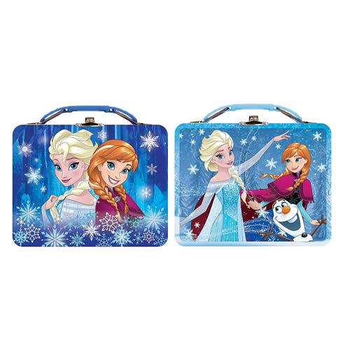Disney Frozen Anna and Elsa Tin Lunch Box Set