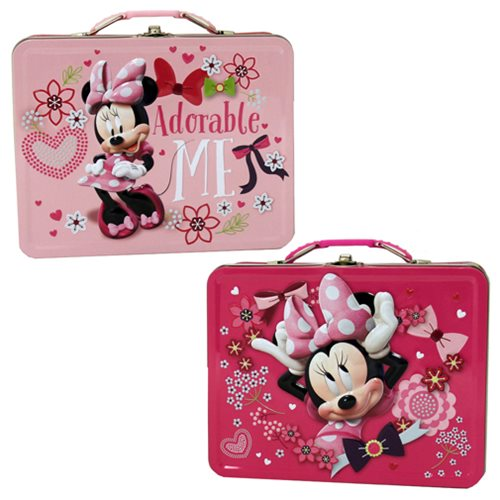 Minnie Mouse Large Carry All Embossed Tin Lunch Box Set