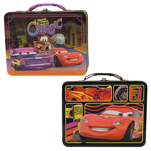 Cars Large Carry All Embossed Tin Lunch Box Set