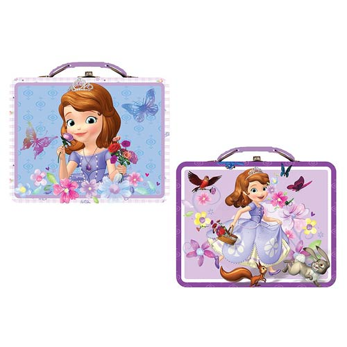 Sofia the First Large Embossed Carry All Tin Lunch Box Set