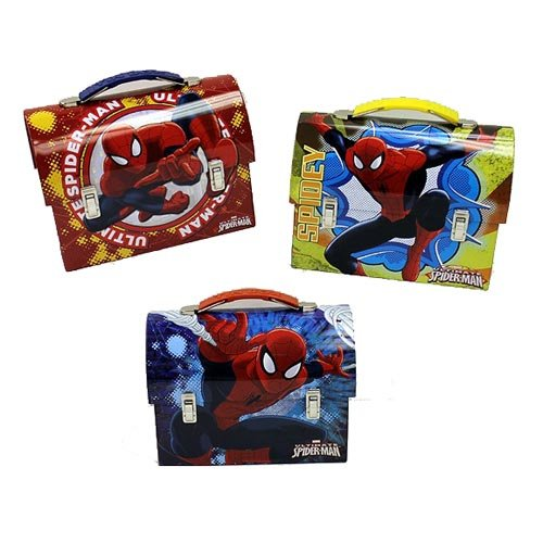 Spider-Man Large Workman Carry All Tin Lunch Box Set