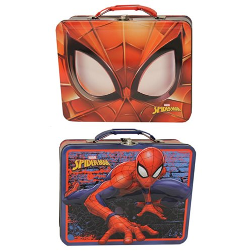 Spider-Man Large Embossed Carryall Tin Lunch Box Set