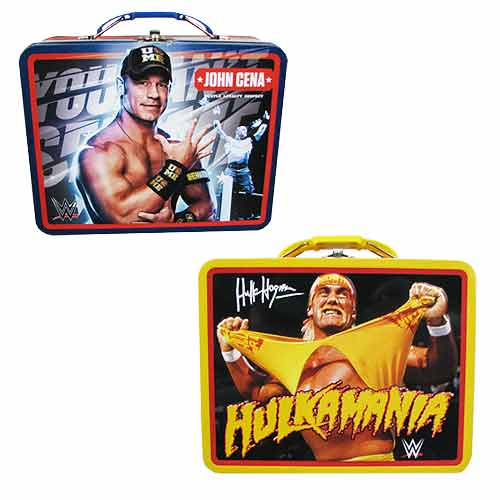 WWE John Cena and Hulk Hogan Tin Lunch Box Set