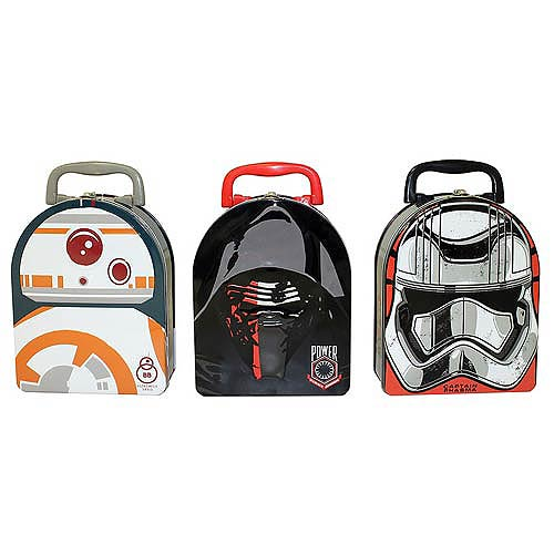 Star Wars Force Awakens Arch Carry All Tin Lunch Box Set