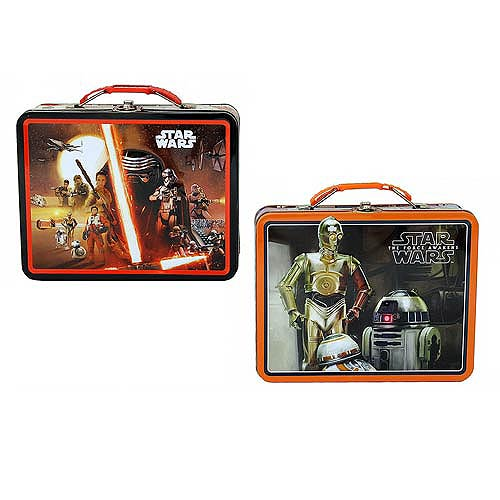 Star Wars Force Awakens Large Carry All Tin Lunch Box Set