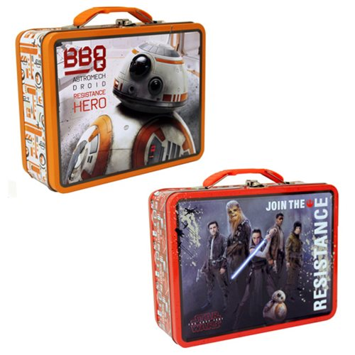 Star Wars: The Last Jedi Embossed Large Tin Lunch Box Set