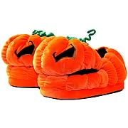 Here Be Monsters Jack O'Lantern Plush Slippers
