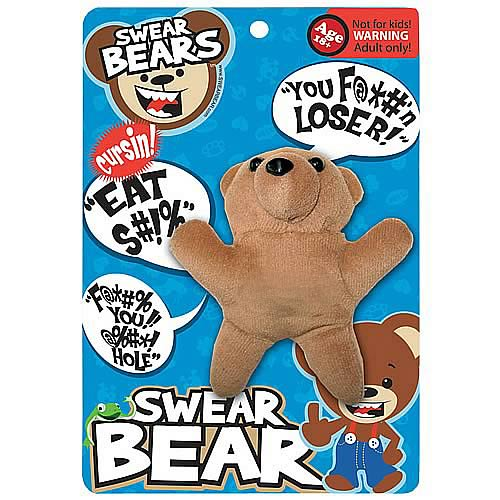 Swear Bear Classic Talking Plush Key Chain