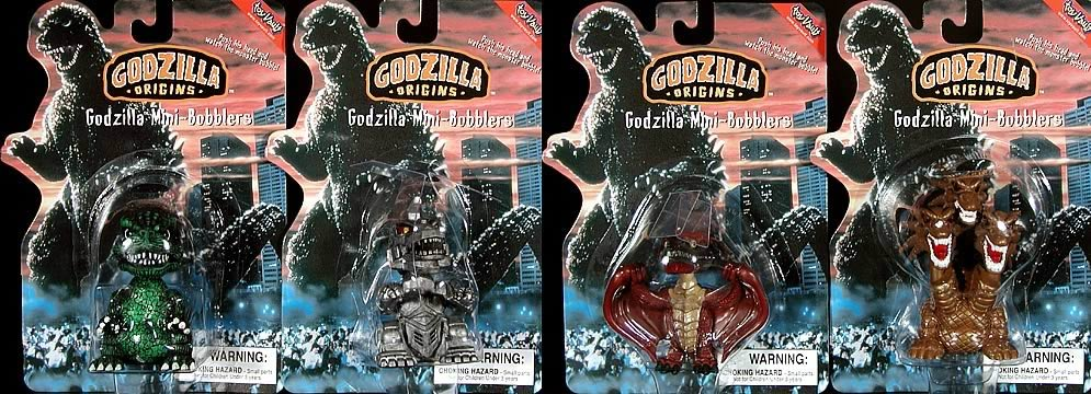 Godzilla Mini-Bobbler Set