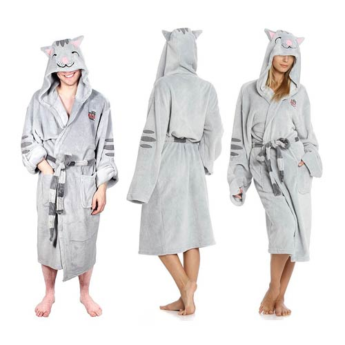 Big Bang Theory Soft Kitty Gray Hooded Adjustable Bath Robe