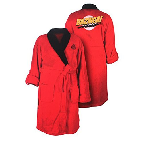 Big Bang Theory Bazinga! Red Adjustable Bath Robe