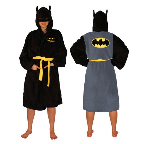 Batman DC Comics Black Hooded Adjustable Bath Robe