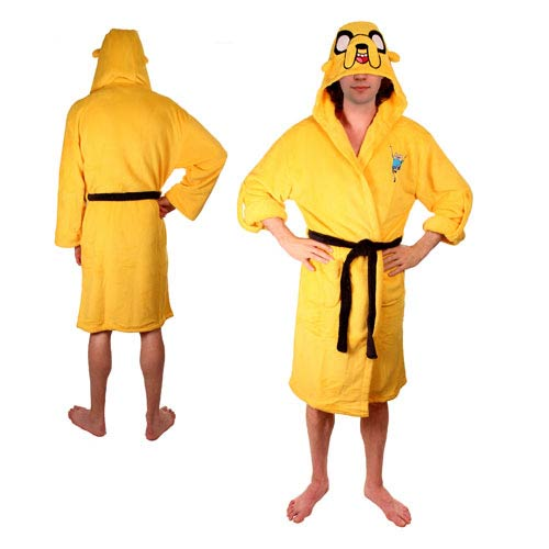 Adventure Time Jake the Dog Yellow Hooded Bath Robe