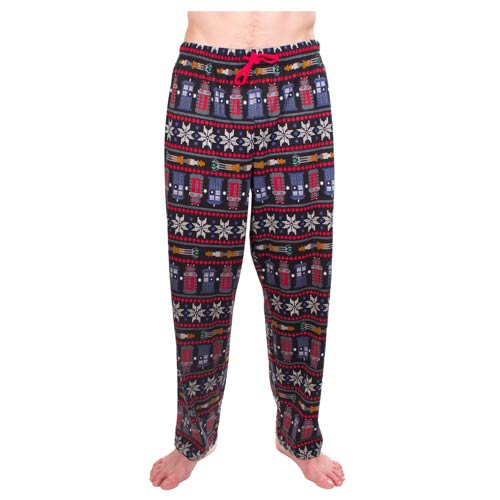 Doctor Who Ugly Christmas Print Pajama Pants