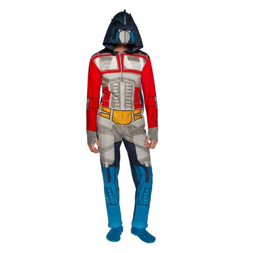 Transformers Optimus Prime Hooded Onesie with Removable Feet