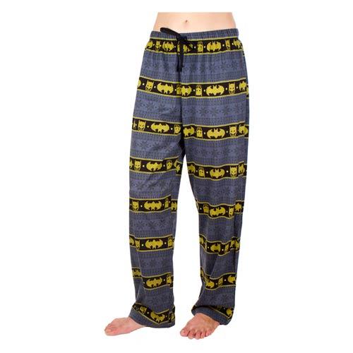 Batman Ugly Christmas Print Pajama Pants