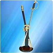 US Navy Commemorative Saber and Sword Display Stand