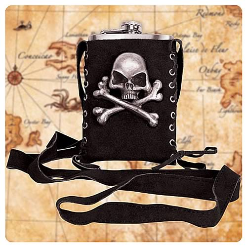 Steampunk Pirate Black Flask Companion