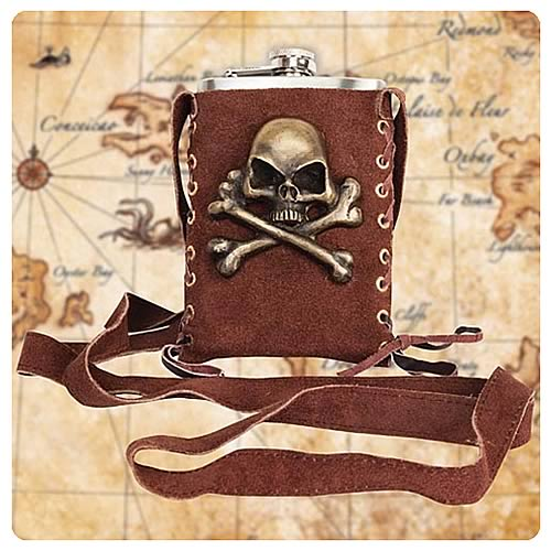 Steampunk Pirate Brown Flask Companion