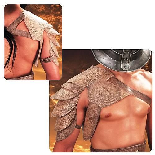 Spartacus: Blood and Sand Leather Pauldron Prop Replica