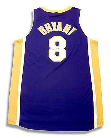 Kobe Bryant Signed Los Angeles Lakers Away/Purple Jersey
