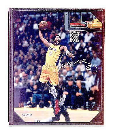 "Kobe Bryant Signed Lakers ""Tomahawk Slam"" Photo"