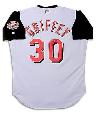 Ken Griffey Jr. Signed Cincinnati Reds Away/Gray Jersey