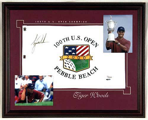 Tiger Woods Framed Signed