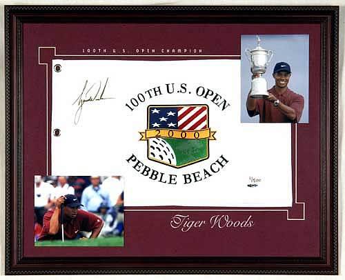 Tiger Woods Framed Signed
