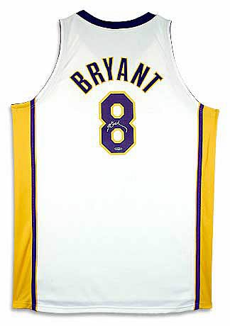Kobe Bryant Signed Los Angeles Lakers Alternate/White Jersey