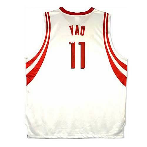 Yao Ming Signed Houston Rockets Home/White Jersey
