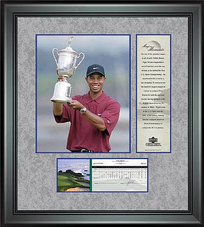 PGA Tiger Woods Framed Photo - 2000 US Open