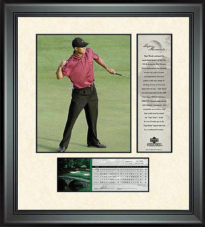 PGA Tiger Woods Framed Photo - 2001 Masters