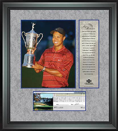 PGA Tiger Woods Framed Photo - 2002 US Open