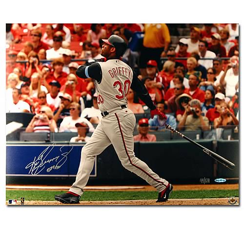Ken Griffey Jr. Signed Cincinnati Reds Photo