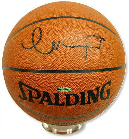 Darko Milicic Signed Basketball