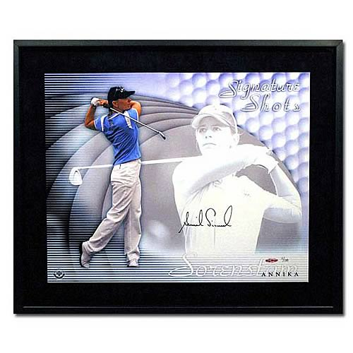 "Annika Sorenstam Signed ""Signature Shots"" Framed Photo"