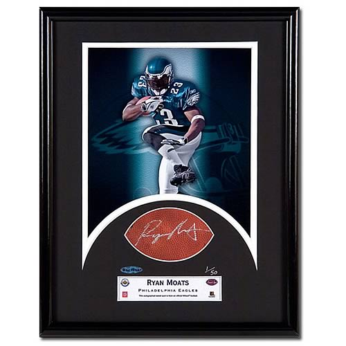 Ryan Moats Signed Sweet Spot Football Cut Framed Photo