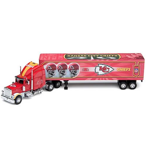 Kansas City Chiefs NFL Peterbilt Tractor Trailer