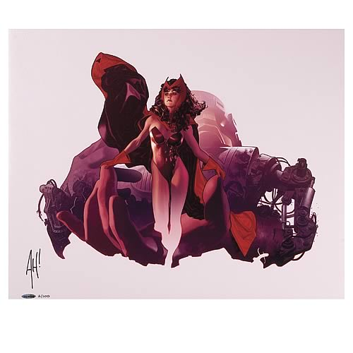 Adam Hughes Scarlet Witch Unframed Signed Lithograph