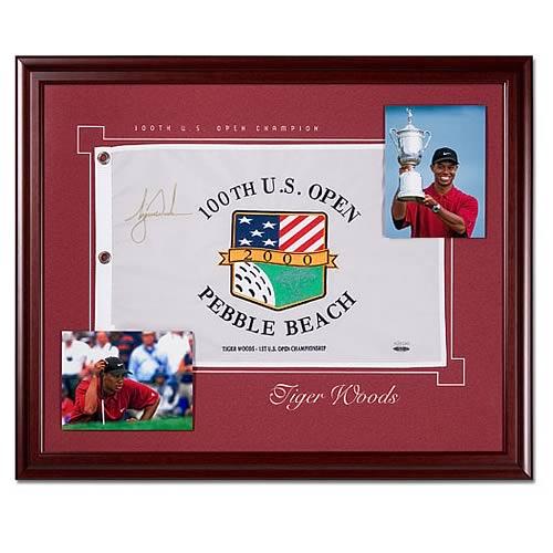 Tiger Woods 1st US Open Championship Framed Signed