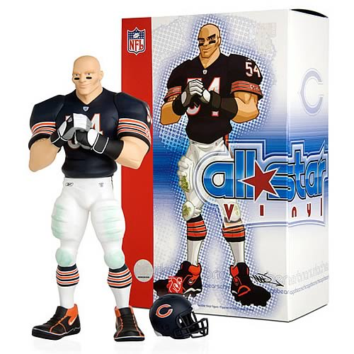 NFL All-Star Brian Urlacher (Home Jersey) Vinyl Statue
