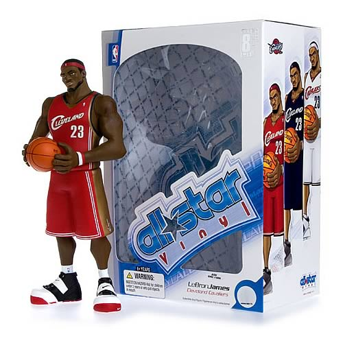 NBA All-Star LeBron James (Red Jersey) Vinyl Figure